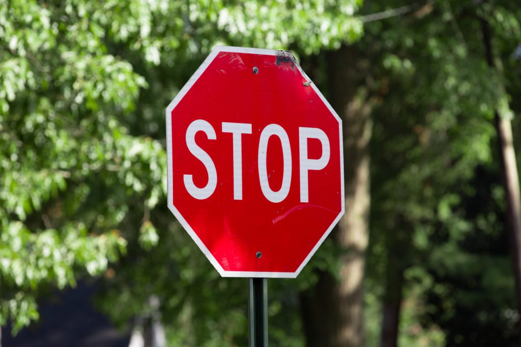 Stop sign affecting batch